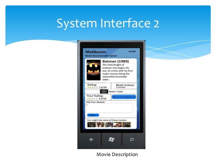 System Interface 2       Movie Description