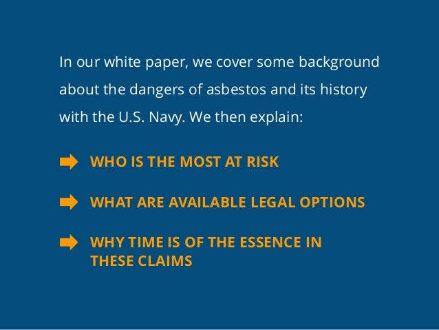 A Continuing Threat: How The Deadly Legacy Of Asbestos Haunts Navy Veterans Today Slide 3