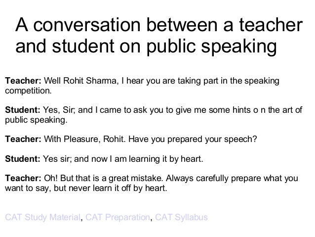 dialogue writing between teacher and student