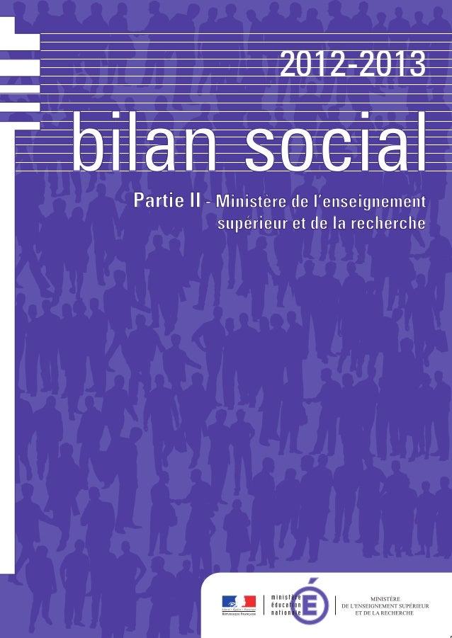 bilanbilan socialsocial 2012-2013 titre du document éditeur directrice de la publication pour plus d'information date de p...