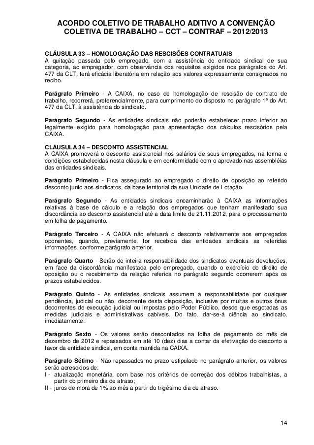 Acordo Coletivo De Trabalho Bancários Abc 20122013