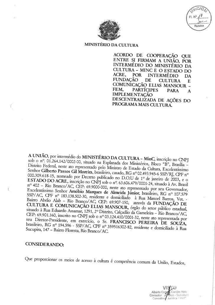 Acordo de Cooperação do Estado do Acre