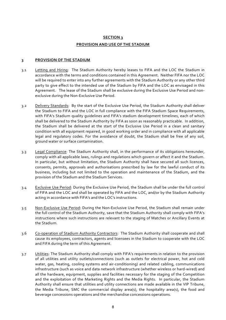 Stadium Agreement