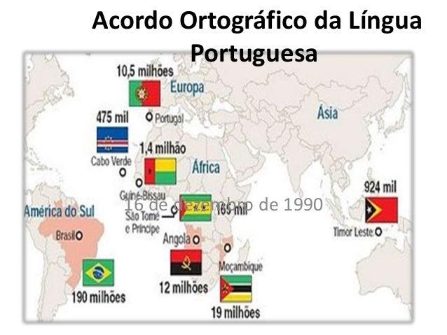 Acordo Ortográfico da Língua Portuguesa 16 de dezembro de 1990