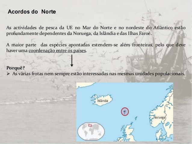 Acordos do Norte As actividades de pesca da UE no Mar do Norte e no nordeste do Atlântico estão profundamente dependentes ...