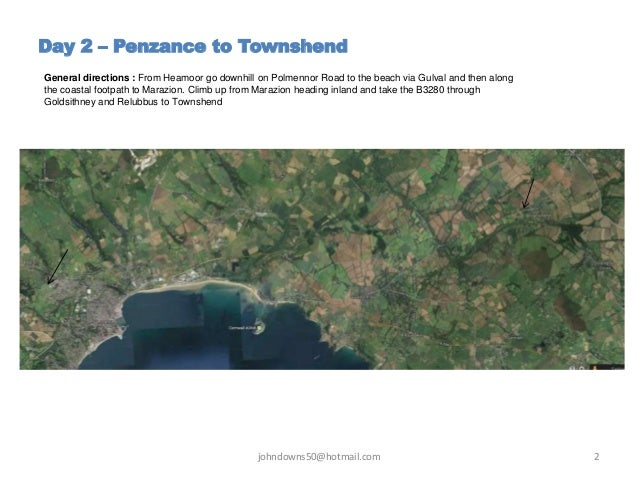 A Ramble through Cornwall -  Day 2 - Penzance to Townshend  Slide 2