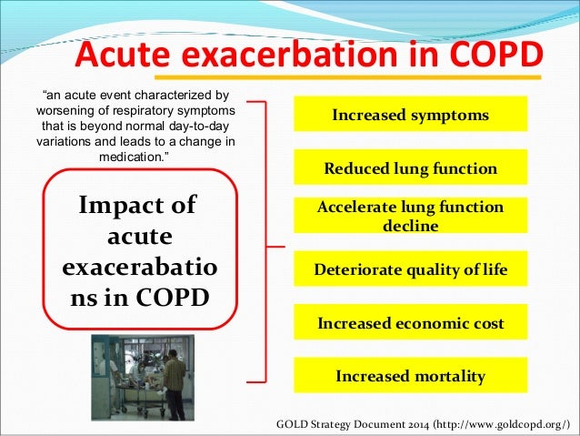 copd exacerbation Pharmacotherapy management of copd exacerbation: chronic obstructive   prescribing of medication following exacerbation can prevent future flare-ups and .