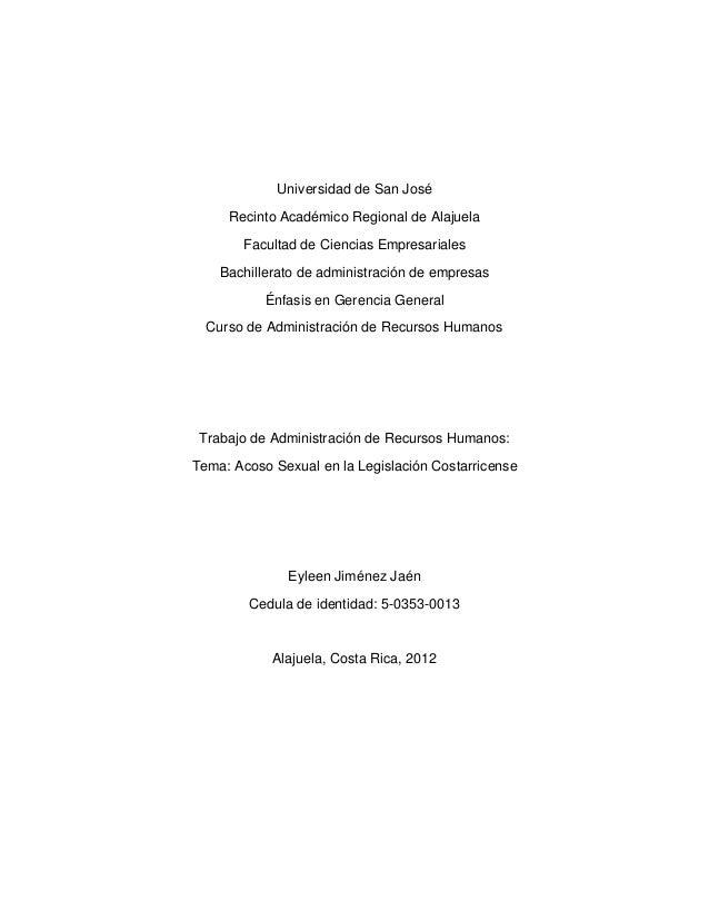 Universidad de San José     Recinto Académico Regional de Alajuela       Facultad de Ciencias Empresariales    Bachillerat...