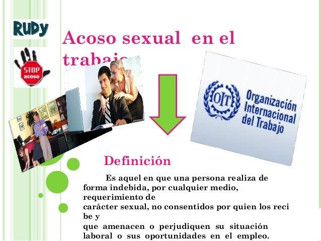 Acoso sexual laboral definicion