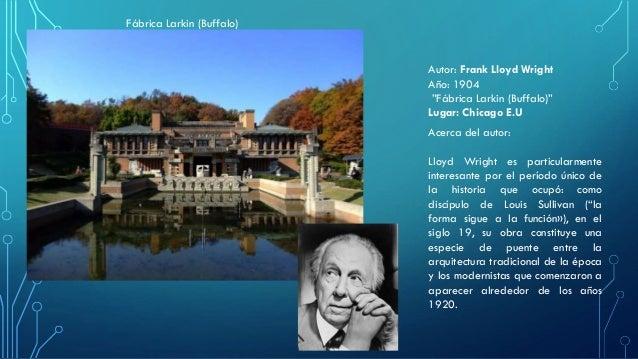 """Fábrica Larkin (Buffalo)  Autor: Frank Lloyd Wright  Año: 1904  """"Fábrica Larkin (Buffalo)""""  Lugar: Chicago E.U  Acerca del..."""