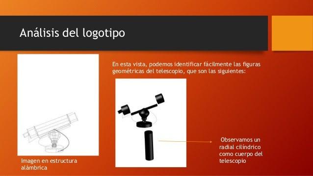 Análisis del logotipo  Imagen en estructura  alámbrica  En esta vista, podemos identificar fácilmente las figuras  geométr...