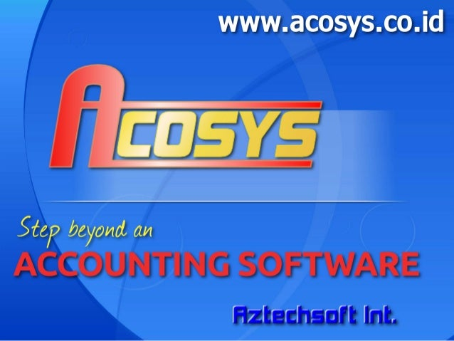 Acosys - Step beyond an accounting software