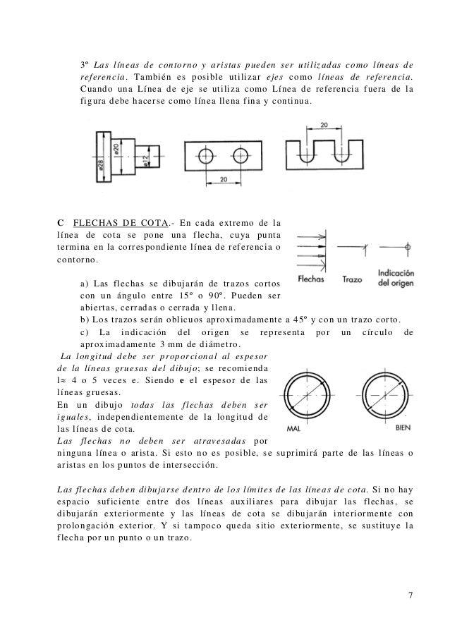 3º Las líneas de contorno y aristas pueden ser utilizadas como líneas de nea de referencia fuera de la C F referencia. Tam...