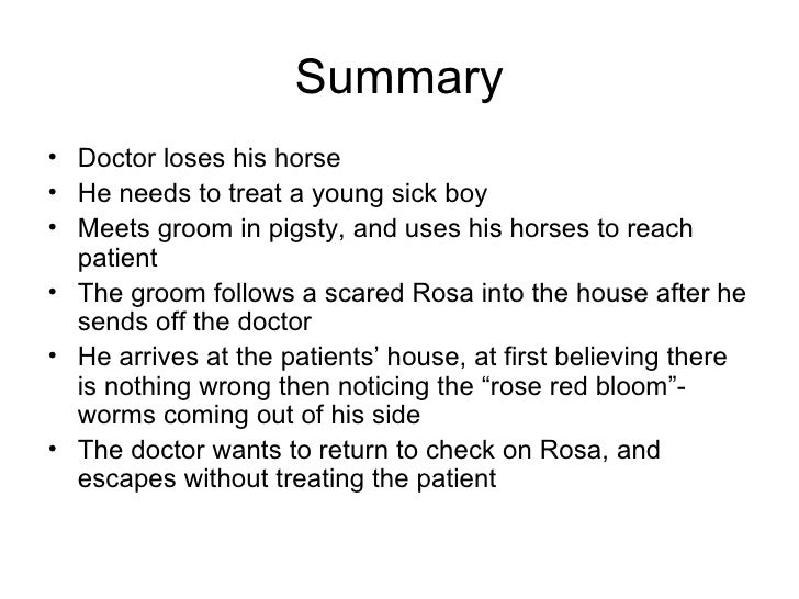a country doctor summary