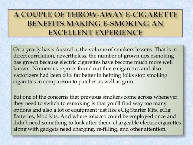 On a yearly basis Australia, the volume of smokers lessens. That is in direct correlation, nevertheless, the number of gro...