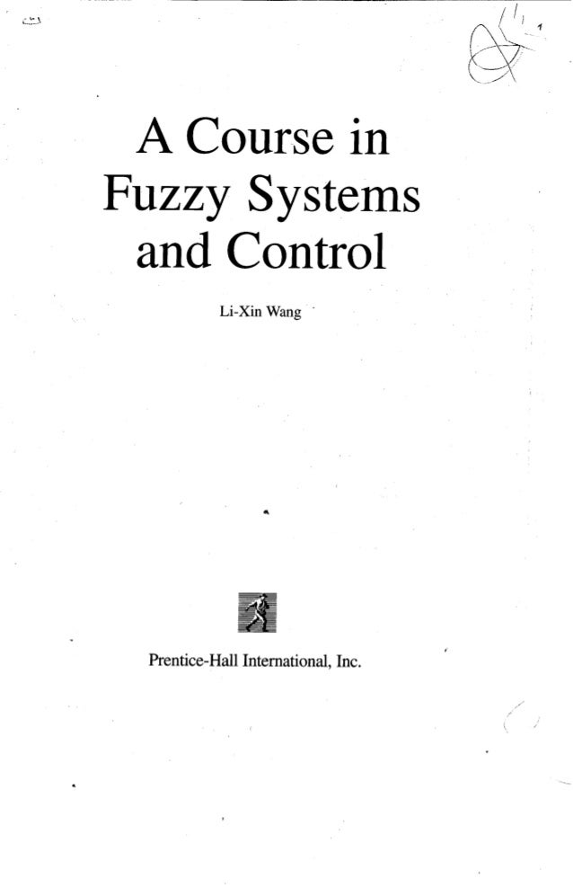 a course in fuzzy systems and control rh slideshare net Lin Wang Lin Wang