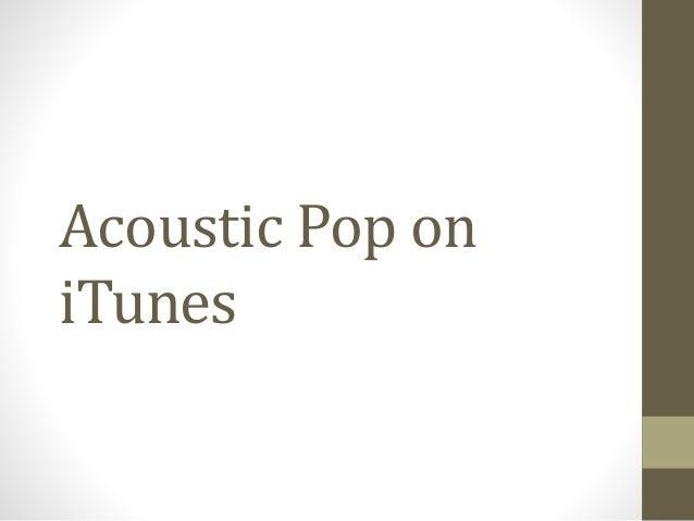 Acoustic Pop on iTunes