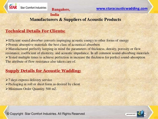 Acoustic Panels Manufacturers India
