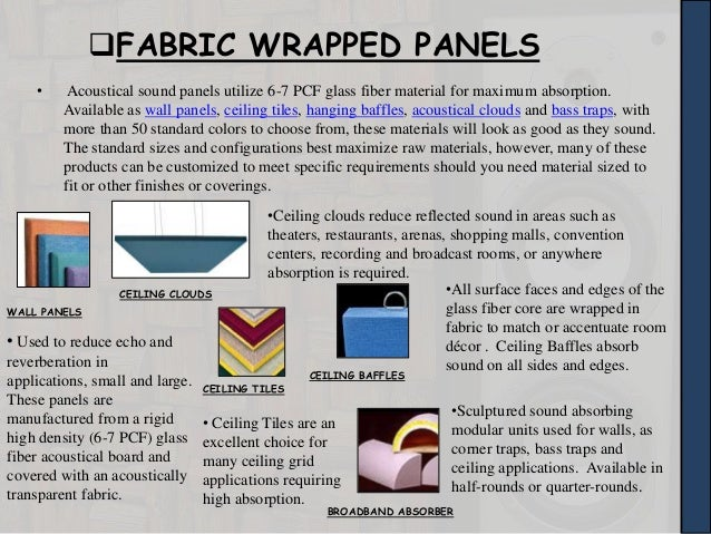 Acoustical Materials