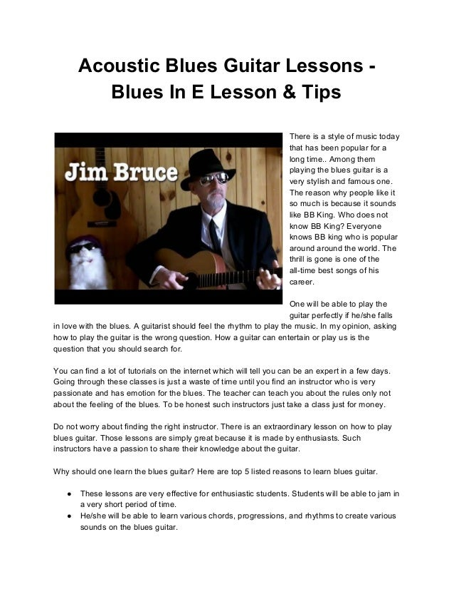 Acoustic Blues Guitar Lessons Blues In E Lesson Amp Tips