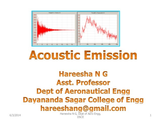 6/3/2014 1 Hareesha N G, Dept of Aero Engg, DSCE