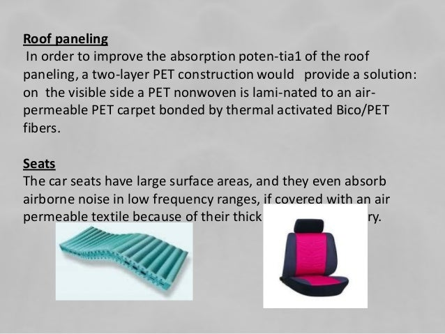 nonwoven hollow fibers to improve cars Non-woven materials and fabrics produced on the basis of hollow fiber are used   parts of car bodies, yachts, launches, aircrafts, their decorative elements and.