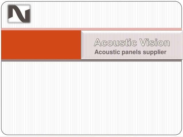 Acoustic panels supplier