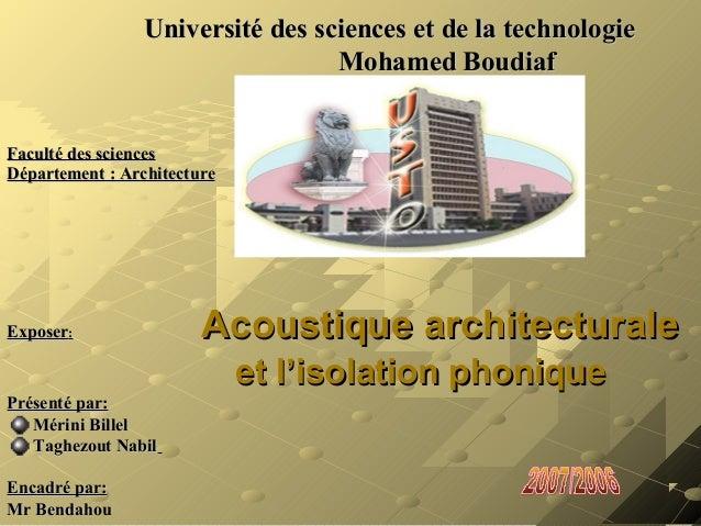 Université des sciences et de la technologieUniversité des sciences et de la technologieMohamed BoudiafMohamed BoudiafFacu...