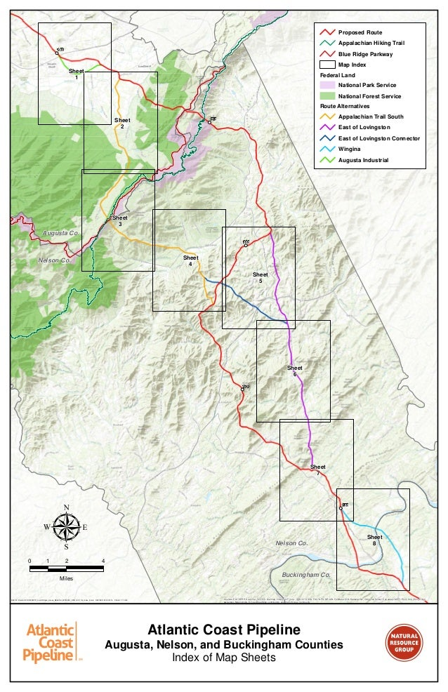 Atlantic Coast Pipeline Map for Augusta, Nelson and ... on