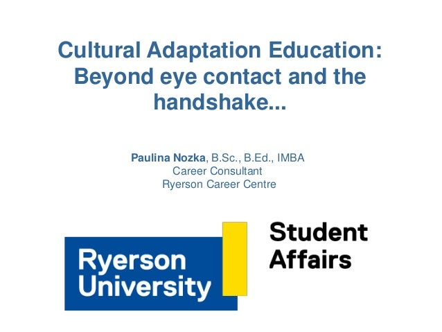 culture and cultural adaptation This paper examines the construct of sociocultural adaptation and describes the development  these include length of residence in the new culture, cultural.