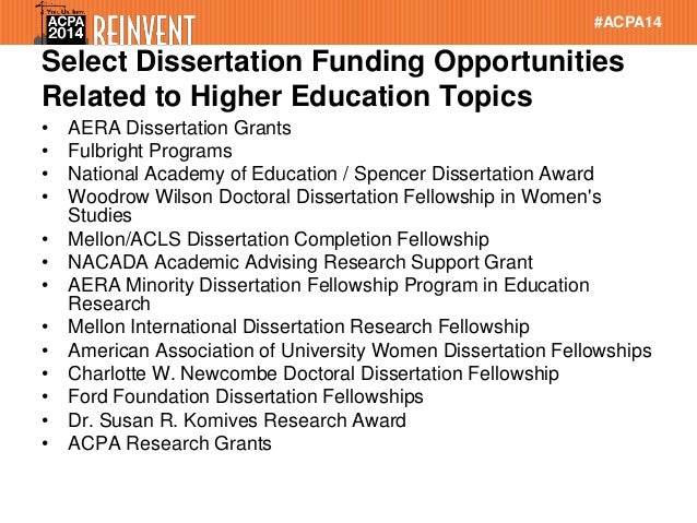 dissertation write up funding Graduate student dissertation write-up please write/type a detailed and candid letter to assist us in judging this applicant for financial assistance to.