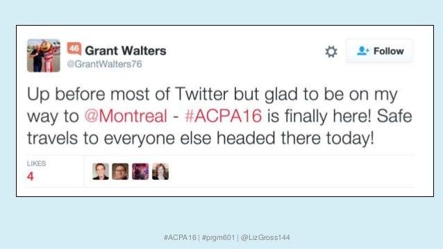 #ACPA16 | #prgm601 | @LizGross144