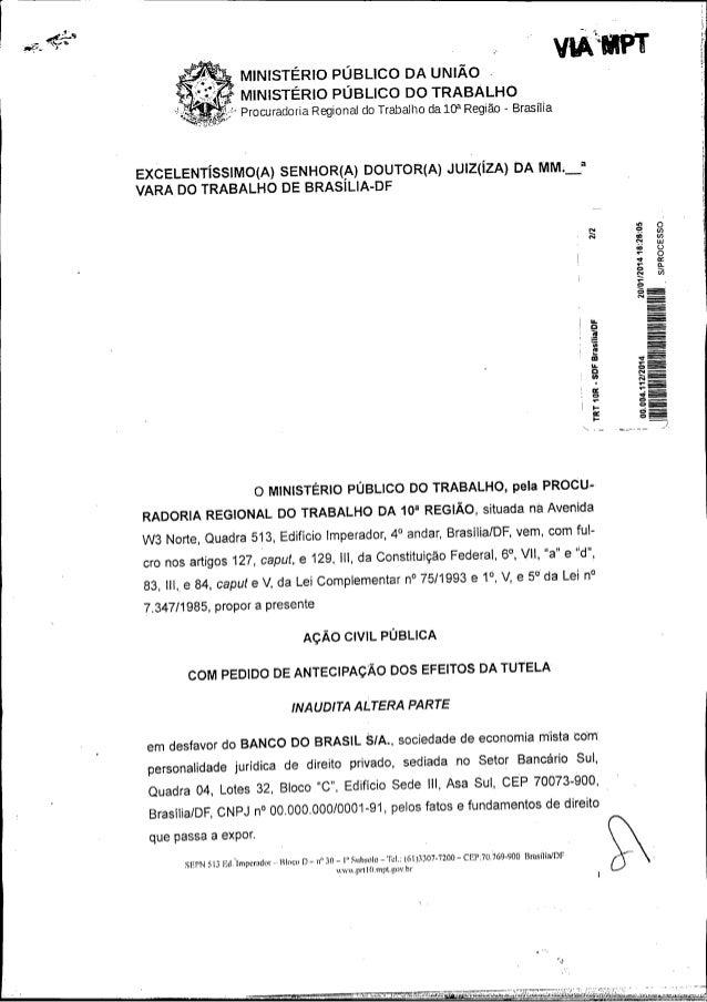 vnAl*~mPT   MINISTÉRIO PÚBLICO DA UNIÃO .   MINISTÉRIO PÚBLICO DO TRABALHO Procuradoria Regional do Trabalho da 10?* Regiã...