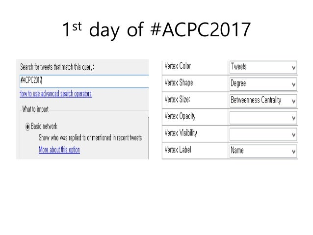1st day of #ACPC2017