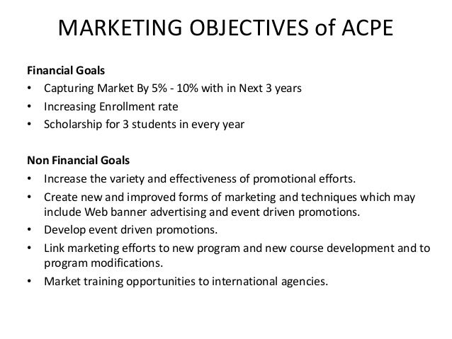 Marketing Plan Example For Students Image Gallery  Hcpr
