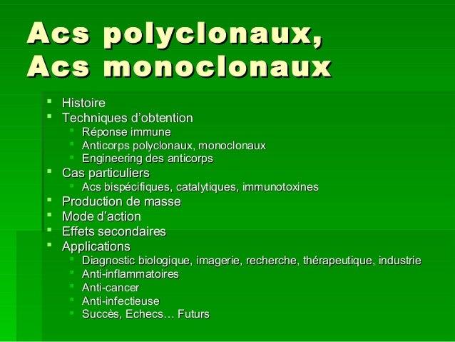 Acs Polyclonaux Et Monoclonaux Master on L3 Engineering