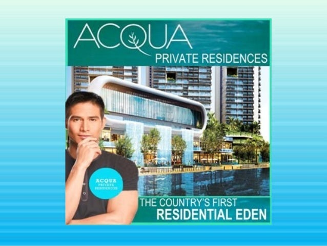 Turn Over - 2015ACQUA PRIVATE RESIDENCES - The Countrys First Residential Edena sensational new masterplanneddevelopment o...