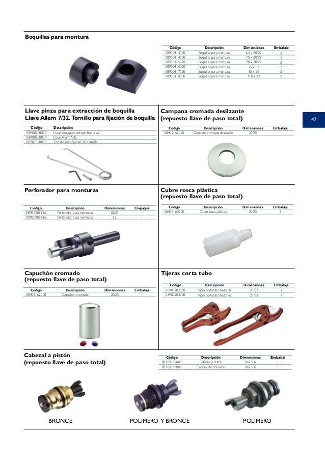 Acqua system for Montura llave de paso