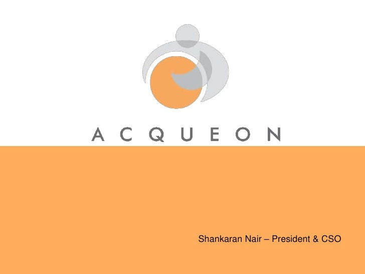 Shankaran Nair – President & CSO<br />