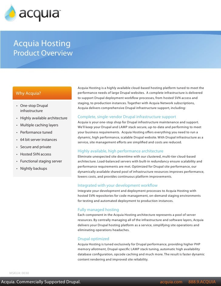 Acquia Product Overview       Acquia Hosting      Product Overview                                              Acquia Hos...