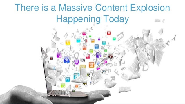 """Everyone is a content creator and content publisher. """"Between the time the world was born and 2003, a total of 5 exabytes ..."""