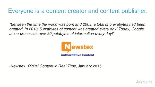 """Big content comes with a big cost, mainly time spent searching for content. """"In 2013, content searches cost companies over..."""