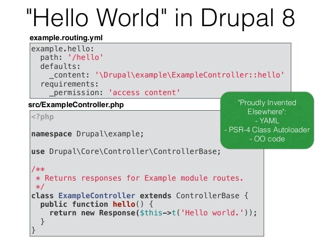 What happens after 8.0.0? • Drupal 6 support dropped 3 months after Drupal 8.0.0's release. • Bug fix/security releases con...