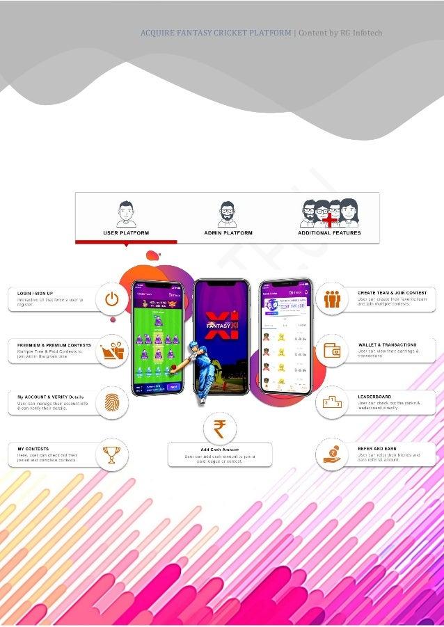 Acquire RG Infotech's Fantasy Cricket App Development to