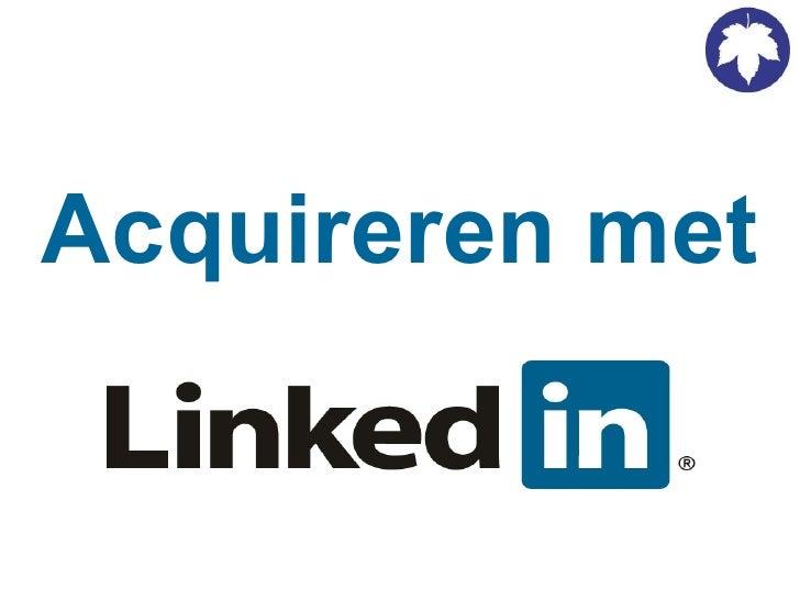 Acquireren Met Linkedin