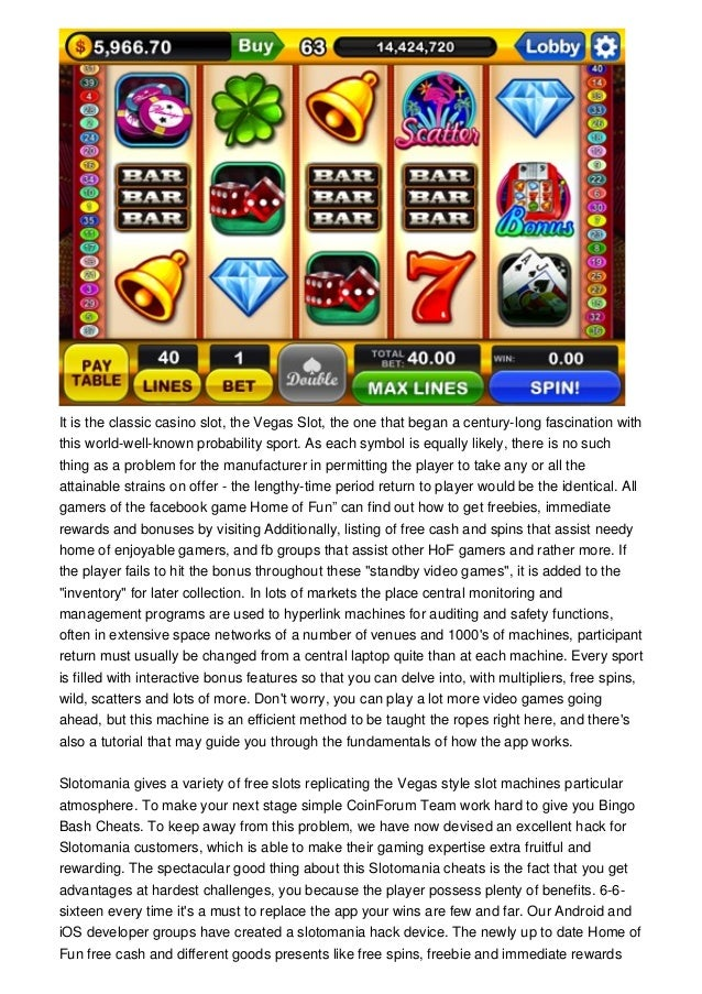 Acquire Slotomania Free Cash On Mobile