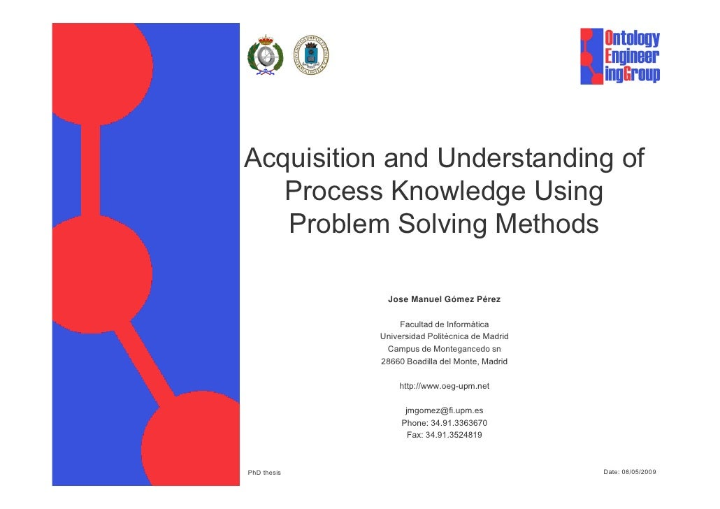 Acquisition And Understanding Of Process Knowledgev1 1