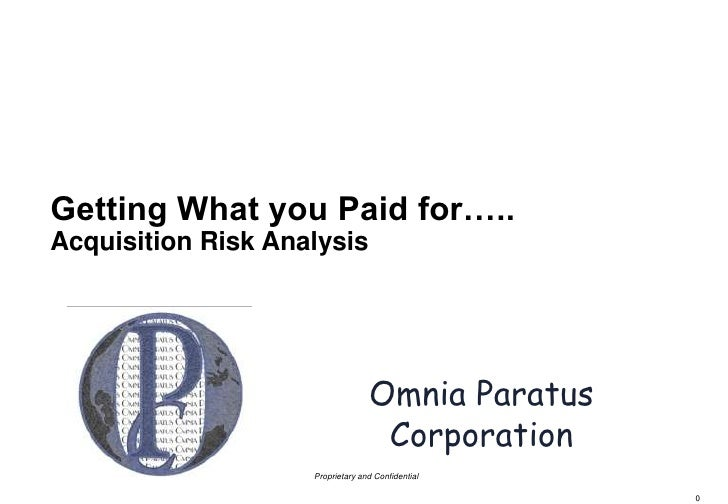Acquisition Risk Analysis