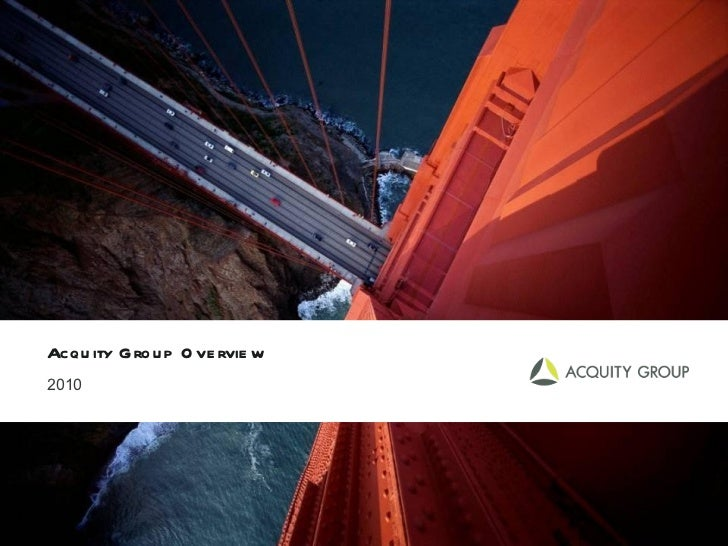 Acquity Group Overview 2010
