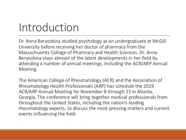 Preparing for the 2019 ACR/ARP Annual Meeting